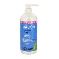 Jason natural daily hair shampoo, fragrance free  -  32 Oz