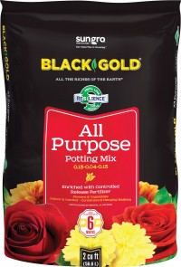 Sun Gro Horticulture black gold all purpose potting mix w/crf - 2 cf, 1 ea