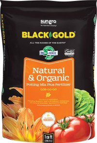 Sun Gro Horticulture black gold nat & organic potting mix omri - 1 cf, 1 ea