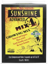 Sun Gro Horticulture sunshine advanced mix #4 omri compressed - 3 cf, 1 ea