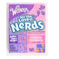 Wonka Nerds Grape Strawberry Candies - 1.6 Oz Each X 36 Per Pack