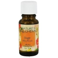 Natures Alchemy Sage Pure Essential Oil - 0.5 oz