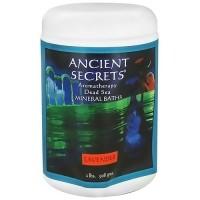 Ancient Secrets aromatherapy dead sea mineral baths, Lavender Scent, 2 lbs