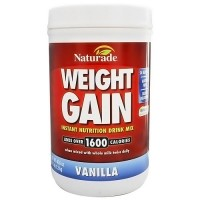 Naturade Weight gain instant nutrition drink mix Vanilla(2.5 Lb) - 40 oz