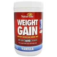 Naturade Weight gain instant nutrition drink mix Vanilla(2.5 Lb) - 40 oz