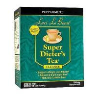 Laci Le Beau peppermint super dieter's tea cleanse, Caffeine free - 60 tea bags