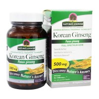 Natures answer 500 mg korean panax ginseng veg capsules - 50 ea