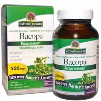 Natures Answer Standardized Bacopa 500 mg Vegetarian Capsules - 90 ea