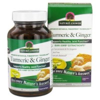 Natures answer  turmeric and ginger extractacaps vegetarian capsules  -  90 ea