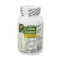 Super colon cleanse dietary fiber supplement capsules by Health plus - 120 ea