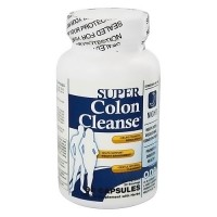 Health Plus super colon cleanse night formula 500mg capsules - 90 ea