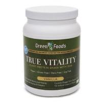 Green foods true vitality plant protein shake, vanilla - 25.2 oz