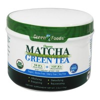 Green foods organic matcha green tea, vegan, dairy free  -  5.5 Oz