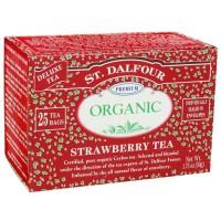 St. Dalfour deluxe premium organic tea strawberry - 25 tea bags