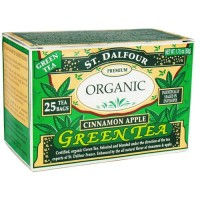 St. Dalfour green tea premium organic, cinnamon apple - 25 tea bags , 6 pack