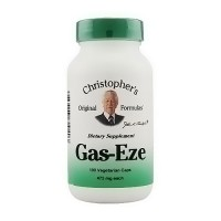 Dr. Christophers Original Formulas Gas-Eze, 475 mg Vegetarian Capsules - 100 ea