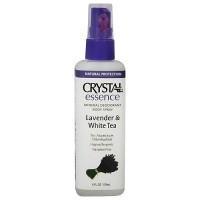 Crystal Essence Deodorant Body Spray, Lavender and White Tea - 4 oz