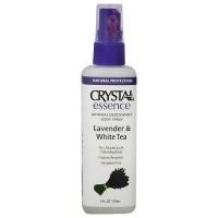 Crystal Essence Deodorant Body Spray, Lavender and White Tea - 4 oz