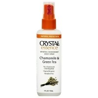 Crystal Essence Mineral Deo, Body spray, Chamomile, Green Tea - 4 oz