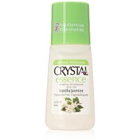 Crystal essence deodorants roll on essence, vanilla jasmine - 2.25 Oz