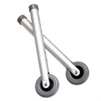 Walker wheel fixed - 5 inches, 1 pair