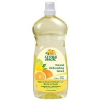 Citrus magic natural dishwashing liquid, light citrus scent - 25 oz