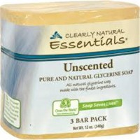 Clearly natural essentials glycerine soap, unscented - 3 ea