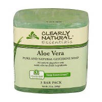 Clearly Natural Glycerine Bar Soap Aloe Vera - 12 oz, 3 ea