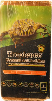 Galapagos tropicoco soil brick natural coconut soil bedding - 8qt, 6 ea