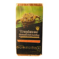 Galapagos tropicoco soil brick natural coconut soil bedding - 8qt, 6 ea