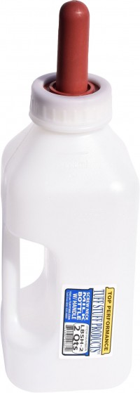 Tuff Stuff Products, Inc screw on nipple bottle with handle - 2 quart, 50 ea