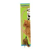 Ware Mfg. Inc. Dog/Cat bead-n-tease natural wood wand - 72 ea