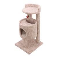 Ware Mfg. Inc. Dog/Cat cutout condo cat furniture - 19wx19dx35.5h, 1 ea