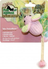 Ourpets Company play-n-squeak wee mouse cat toy - 24 ea