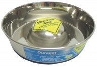 Ourpets Company slow feed stainless steel bowl - small, 24 ea