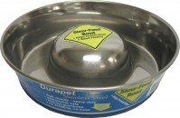 Ourpets Company slow feed stainless steel bowl - medium, 24 ea