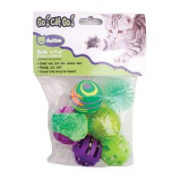 Ourpets Company go cat go rollin' in fun mutlipack - 6 piece/small, 6 ea