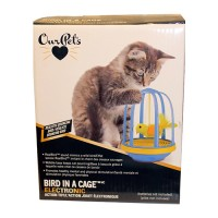 Ourpets Company opb bird in a cage toy - 16 ea