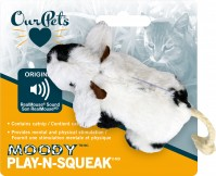 Ourpets Company play-n-squeak moody cow - 24 ea