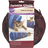Worldwise Inc twinkle chute lighted tunnel cat toy - 24 ea