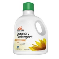 Sun and earth free and clear laundry detergent, unscented - 100 oz, 4 pack