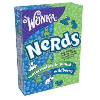 Wonka Nerds Wild Cherry Watermelon, Punch Tiny Tangy Crunchy Candy - 1.65 oz