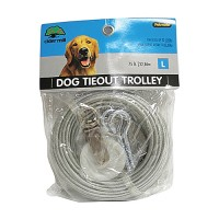 Booda Products aspen pet dog tieout with trolley wheel - 75 ft, 5 ea