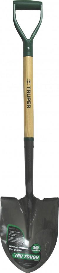 Truper Tools P tru tough round point shovel d-grip handle - 41 inch, 6 ea