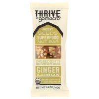 Thrive raw superfood nut and seed bar ginger lemon - 1.4 oz, 12 pack