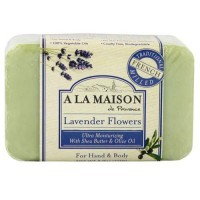 A la maison for hand and body bar soap, lavender flowers - 8.8 oz