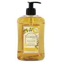 A la maison traditional french milled liquid soap for hands and body, honeysuckle - 16.9 oz.