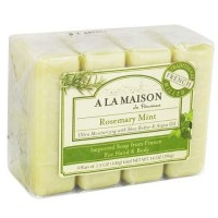 A la maison ultra moisturizing traditional french milled bar soap, rosemary mint - 4 ea
