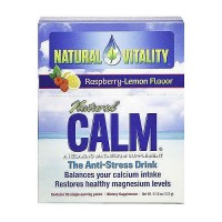 Natural Vitality Calm Raspberry, Lemon - 30 Packets