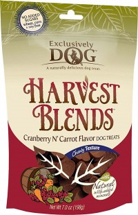Exclusively Pet Inc chewy harvest blends dog treats - 7 oz, 12 ea